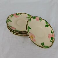 """Franciscan Hand Decorated Oven-Safe Small Plate Saucer Desert Rose 5 3/4"""" USA"""