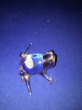 HAND BLOWN PALE LAVENDER GLASS FROG China