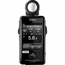 New Sekonic LITEMASTER PRO L478DR Photographic Light Meter black