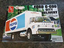 AMT 1/25 camión de Pepsi Ford C-600 Super Raro gran condición de entrega de la ciudad