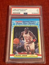 Michael Jordan 1988 fleer sticker #7 psa 5