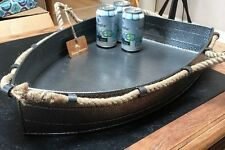 NWT TOMMY BAHAMA•Galvanized Metal•Party BOAT•Drinks Tub•Food Tray + Rope Handles