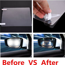 2 Pcs 200*175mm Car Rearview Mirror Nano Coating Protective Film Anti Fog Water