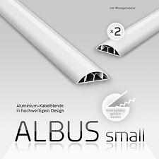 eSmart Germany 2er Set  Aluminium Kabelkanal ALBUS small  | weiß