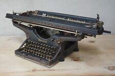 "Large Antique Typewriter Underwood Standard American Typewriter 28"" Wide"