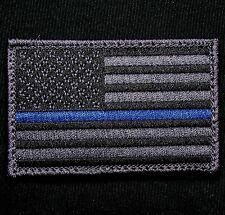 AMERICAN USA FLAG THIN BLUE LINE POLICE DARK OPS VELCRO® BRAND FASTENER PATCH