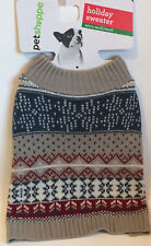 Warm Olive Green Holiday Pet Costume Sweater Size Extra Small / Small - New