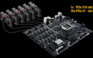 ASUS B250 Mining Expert Motherboard (Up to 19 GPUS)