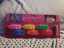 Ship Birthday Candle Holders Cake 6 ships Multi Color Plastic