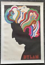 Bob Dylan / Milton Glaser Signed Linen Backed Poster