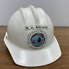 Rare Vintage Ed Bullard Co Hard Hat Hard Boiled White Us Geological Survey Usgs