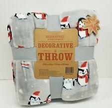 Berkshire Decorative Throw Blanket  60 x 80 Grey Penguin
