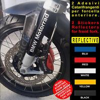 2 Adesivi Catarifrangenti FORCELLA BMW R1200GS scritte fork reflective stickers