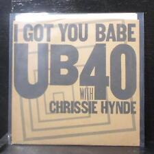 """UB40 - I Got You Babe / Nkomo A Go Go 7"""" Mint- Vinyl 45 AM-2758 USA 1985 brown"""