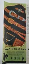 1946 Hickok men's belts bar H Roundup Western Steer about wallet fashion ad