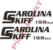carolina 198 DLX skiff Boat Decals Graphics Sticker Decal Stickers  USA