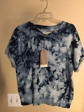 NEW Current/Elliott Rolld Sleeve Tie-dyd Cottonterry Sweatshirt top Sz 2 (M)$178