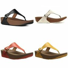 FitFlop 100% Leather Slides Sandals & Beach Shoes for Women