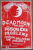 DEAD MOON 2014 Gig POSTER Reunion Portland Oregon Concert Fred & Toody Cole
