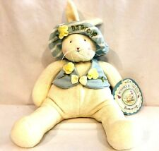 "Hallmark Bunnies by the Bay 12"" Buttercup Stuffed Plush Bunny Rabbit NEW w Tags!"