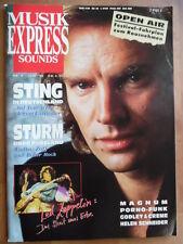 MUSIKEXPRESS 6 - 1988 ** Sting Led Zeppelin Helen Schneider Magnum Ry Cooder