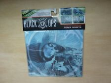 Black Ops Enemy Combat Airsoft Paper Targets 4 different designs, 20 total count