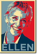ELLEN DEGENERES ART PHOTO PRINT (OBAMA HOPE PARODY) POSTER GIFT SHOW