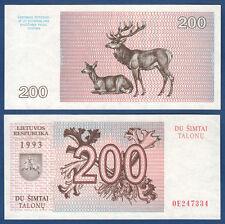 LITAUEN / LITHUANIA 200 Talonu 1993  UNC  P.45