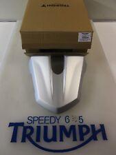 TRIUMPH Street Triple & R Asiento Trasero Capucha Matt Aluminio Plateado A9708271 MS 2013