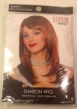 NEW  HALLOWEEN COSTUME CULTURE by FRANO Womens Sharon Wig Natural Red ONE SIZE