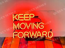 """New Keep Moving Forward Acrylic Neon Light Sign 14""""x10"""" Lamps Homemade Display"""