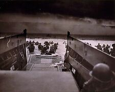 American troops wading ashore in Normandy on D-Day 8x10 World War II WW2 Photo
