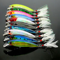 10 pcs Fishing Lures Crankbaits Hook Minnow Baits Tackle Crank Fishing Kit set