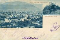 Ansichtskarte Biberach Schwarzwald Burg Hohengeroldseck 1900 (Nr.718)