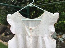 Nightdress Nightie Nightgown Size 12 - 14 Cap Sleeves Pastel Floral Pink Blue