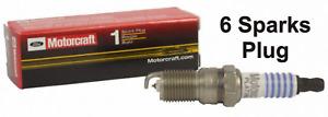 6 Spark Plugs Set Pack Finewire Platinum Motorcraft SP-459 OEM AGSF22FSM Mercury