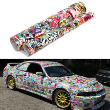 "60"" X 20"" Car Vinyl Sticker Panda Cartoon Graffi Decal PVC Sticker Bomb Scrawl"