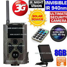 3G Wireless Security Camera 8GB Solar Trail GSM MMS Home Farm IR 1080P Hidden