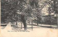 State College Pennsylvania Main Drive Way Antique Postcard J58864