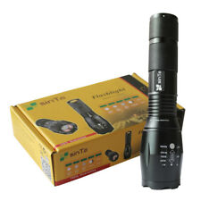 10000lm Super Bright CREE XM-L T6 Zoomable Flashlight LED Military Torch Light