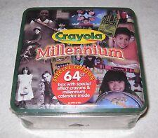 64 Crayola Crayons Millenium Special Edition Tin Box 1999