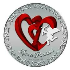 Niue 2013 2$ Love is Precious Red Hearts 1 Oz Silver Proof Coin