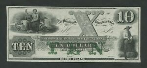 UNITED STATES New England Bank $10  c.1850s Rhode Island Uncirculated  Banknotes