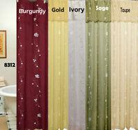 Creative Linens Daisy Fabric Shower Curtain FREE S&H
