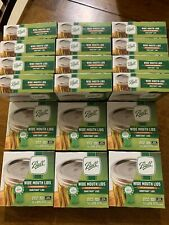 BALL WIDE MOUTH CANNING JAR LIDS - 4 Boxes 12 Per Box 72 Total Lids Total