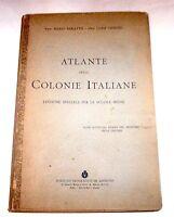 Atlante delle Colonie Italiane - 1^ ed. 1928 De Agostini