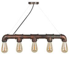 Industrial Wasserrohr Retro Vintage Hänge Lampe Pendel Leuchte E27 60w + 5 Fass