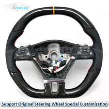 Carbon Fiber Leather Thick Sculpted Customized Steering Wheel for VW CC 2010-ON
