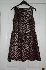 Topshop Leopardo/Animal Print Scuba Skater-UK Size 10