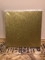 "20 piece Gold Glitter 12""x12"" Scrapbook Paper Card Stock"